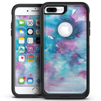 Teal to Pink 434 Absorbed Watercolor Texture - iPhone 7 or 7 Plus Commuter Case Skin Kit