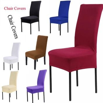 1Pc Fashion Chair Cover Kitchen Bar Dining Seat Covers Hotel Restaurant Wedding Part Decor
