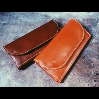 Long Leather Womans purse Handmade