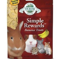 Oxbow Simple Rewards Banana Small Pet Treats 1oz