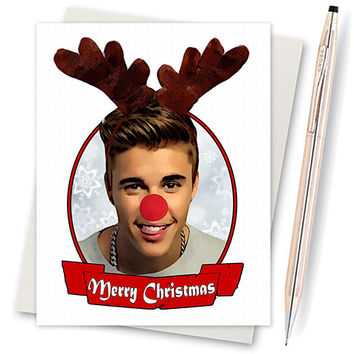 Justin Bieber Christmas Card. Funny Christmas Card. Christmas Card Funny. Handmade Christmas. Christmas Gifts. Cute Boyfriend. Believe Sorry