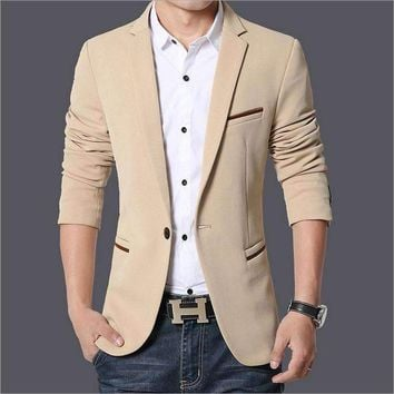 Fall Clothing Men'S Suits Fertilizer To Increase Code Small Suit Men'S Business Casual Solid Color Blazers