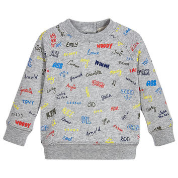 Stella McCartney Baby Boys GreyPrinted Sweater