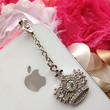 iPhone 5 dust plug  iphone 4  dust plug and charms Blackberry plug and charm-Rhinestone Crown