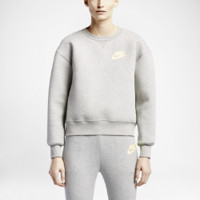 Nike NikeLab x sacai Tech Fleece Crew Women's Sweatshirt Size Small (Grey)
