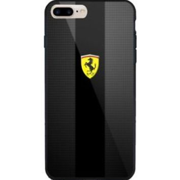 Best Scuderia Ferrari Carbon Black for iPhone 6 6s 7 8 Plus Hard Plastic Case