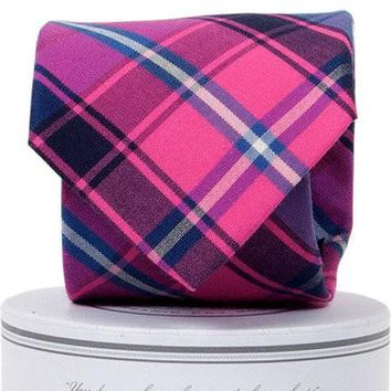 Spyglass Plaid Tie Pink/Blue