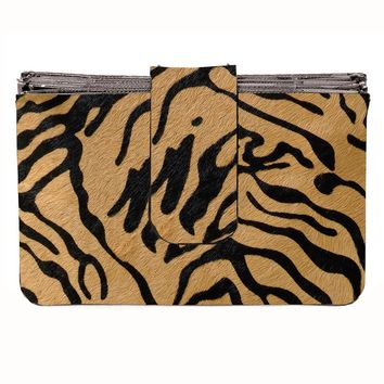 Toss Tanzania Accordion Wallet - Black/ Tan