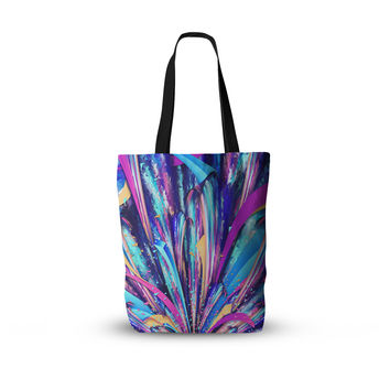 "Danny Ivan ""Enjoy Life"" Purple Blue  Everything Tote Bag"