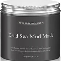 THE BEST Dead Sea Mud Mask, 250g/ 8.8 fl. oz. - Dead Sea Mud Mask Best for Facial Treatment, Minimizes Pores, Reduces Wrinkles, and Improves Overall Complexion - Dead Sea Minerals Help to Pull Toxins Out of the Skin - Facial Mask Provides Relief from Acne,
