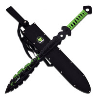 Z-Hunter Fixed Painted Blk 25in Blade Grn Blood Grn Wrap End