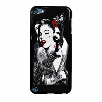 Marilyn Monroe Tattooed Flower With Pistol Gun iPod Touch 5th Generation Case