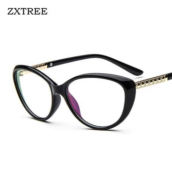ZXTREE Brand Designer Fashion SunGlasses Women Glasses Cat Eye Eyeglasses Anti-fatigue Computer Reading Eyewear Sun Glasses Z60