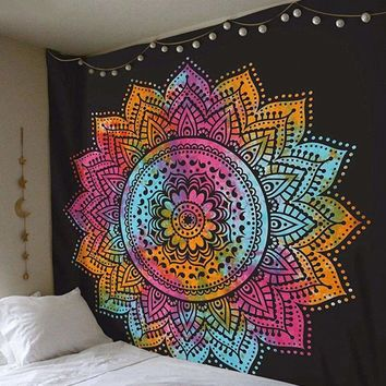 Indian Bohemian Mandala Tapestry Hippie Wall Hanging Bedspread Mat Blanket New