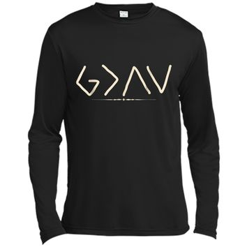 God is Greater Than the Highs and Lows  Long Sleeve Moisture Absorbing Shirt