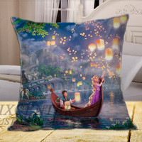 Tangled Walt Disney on Square Pillow Cover