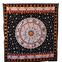 Handicrunch Mandala Tapestry, Wall Hanging, Large Table Runner Bed Cover Indian Art, 100% Cotton, Home Decor Wall Hanging, Table Cloth Home Décor Bed Spread, Cotton Bohemian Tapestry, Hippie Tapestry