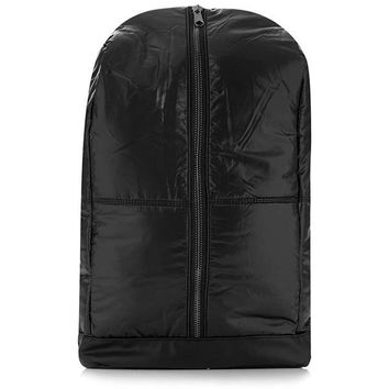Middle Zip Black Winter Backpack