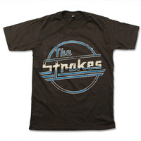 The Strokes Handprint T Shirt Garage Rock Band Logo Shirt Size S M L XL