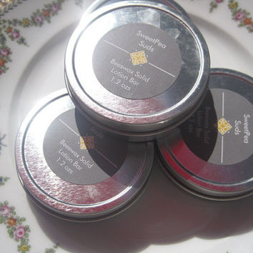 SweetPea Suds -Choose Your Scent - Natural Solid Lotion Bar - Beeswax Solid Lotion Bar - Scented Solid Lotion Bar - Moisturizing Lotion Bar