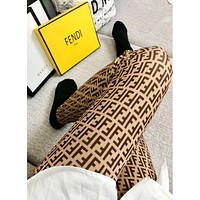 Fendi Fashion New More Letter Print Long Socks Stockings Women