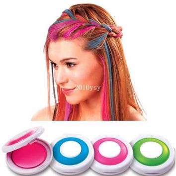 300 Set With 4 Colors Hair Color Professional Compact Pressed Powder Hair Dye Color For Hair Rub Disposable Temporary Chalk