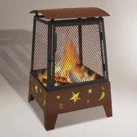 Tall Stars & Moons Fire Pit - World Market