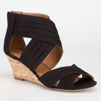 City Classified Lawson Womens Wedges Black  In Sizes