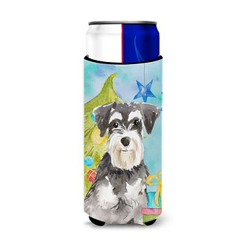 Christmas Tree Schnauzer #2 Michelob Ultra Hugger for slim cans CK1870MUK