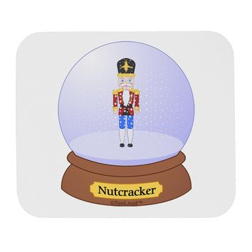 Nutcracker Snow Globe - Red Gold Black Mousepad by TooLoud