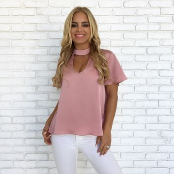 Set The Bar Blouse in Pink