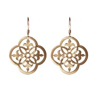 Gold Ornamental Aluminum Earrings