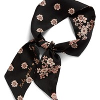kate spade new york reversible floral print silk scarf | Nordstrom