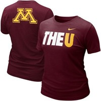 Nike Minnesota Golden Gophers Ladies My School Local T-shirt - Maroon