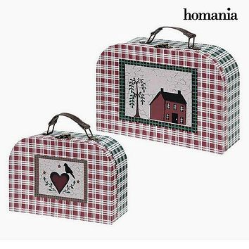 Suitcase set Homania 7840 (2 uds) Carboard