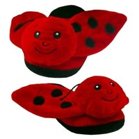Red Ladybug Animal Slippers