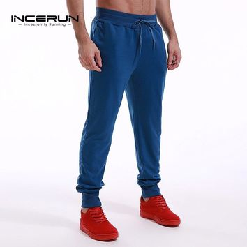 INCERUN 2018 Men's Track Pants Casual Joggers Long Sweatpants Trousers Solid Color Slim Fit Male Tracksuit Bottoms High Quality