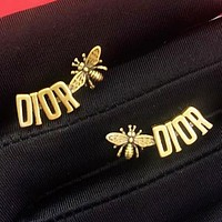 DIOR Fashion Women Retro Bee Letter Earrings Jewelry Accessories