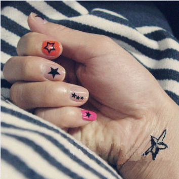 Tattoo temporary, Long lasting tattoo,Nail sticker - Stars