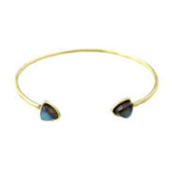 Torchlight Aurora Cuff Brass with Labradorite