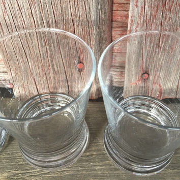 3 Vintage Whiskey Glasses for bar cart, vintage lowball tumblers, vintage Libbey rocks glasses, scotch glasses