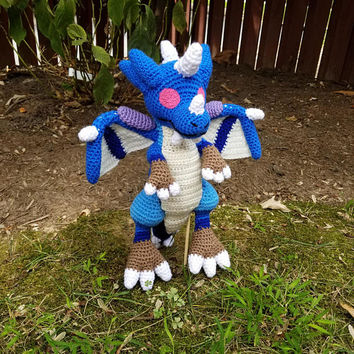 World of Warcraft Inspired: Lil Kalecgos, Dragon Whelpling Amigurumi (Crochet Plushie/Plush Toy) - READY TO SHIP