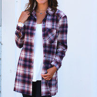 Plaid Party Flannel {Raisin/Ivory}