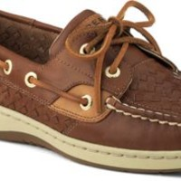 Sperry Top-Sider Bluefish Woven 2-Eye Boat Shoe PapayaWovenLeather, Size 9M  Women's Shoes
