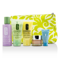 Travel Set: Facial Soap + Clarifying Lotion #2 + Ddml+ + Moisture Surge + Turnaround Concentrate + Bag --5pcs+1bag