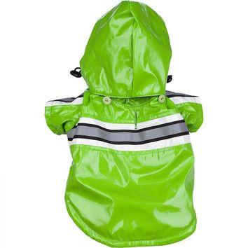 Pet Life Reflecta-Glow Raincoat for Dogs - Green