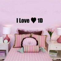 I love 1D one direction - G Direct Wall Stickers