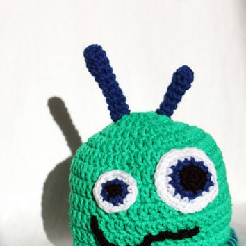 Lopsided Little Monster Hat for Child Toddler or by makinitmama