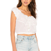 Free People Eyelet You A Lot Top in White