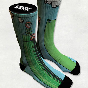 Bad Luck Mario - Super Mario - Bad Pipe Dreams  - Socks